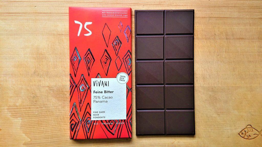ヴィヴァーニ オーガニックダークチョコレート75% 80g
