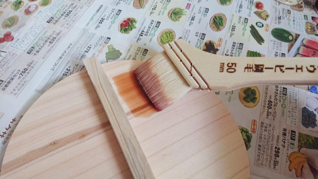 柿渋を塗る